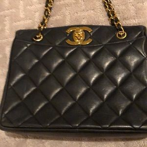 CHANEL Bags - VINTAGE CHANEL DARK TURQUOISE BAG TOTE